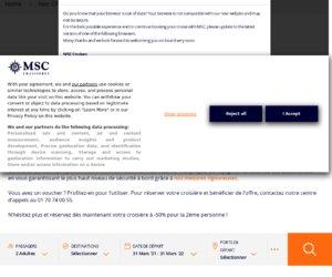 MSC Croisieres cashback